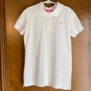 Lilly Pulitzer Girls Size XS White golf shirt